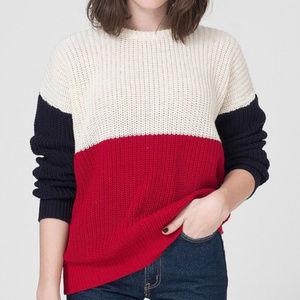 American Apparel Colorblocked Fisherman Sweater